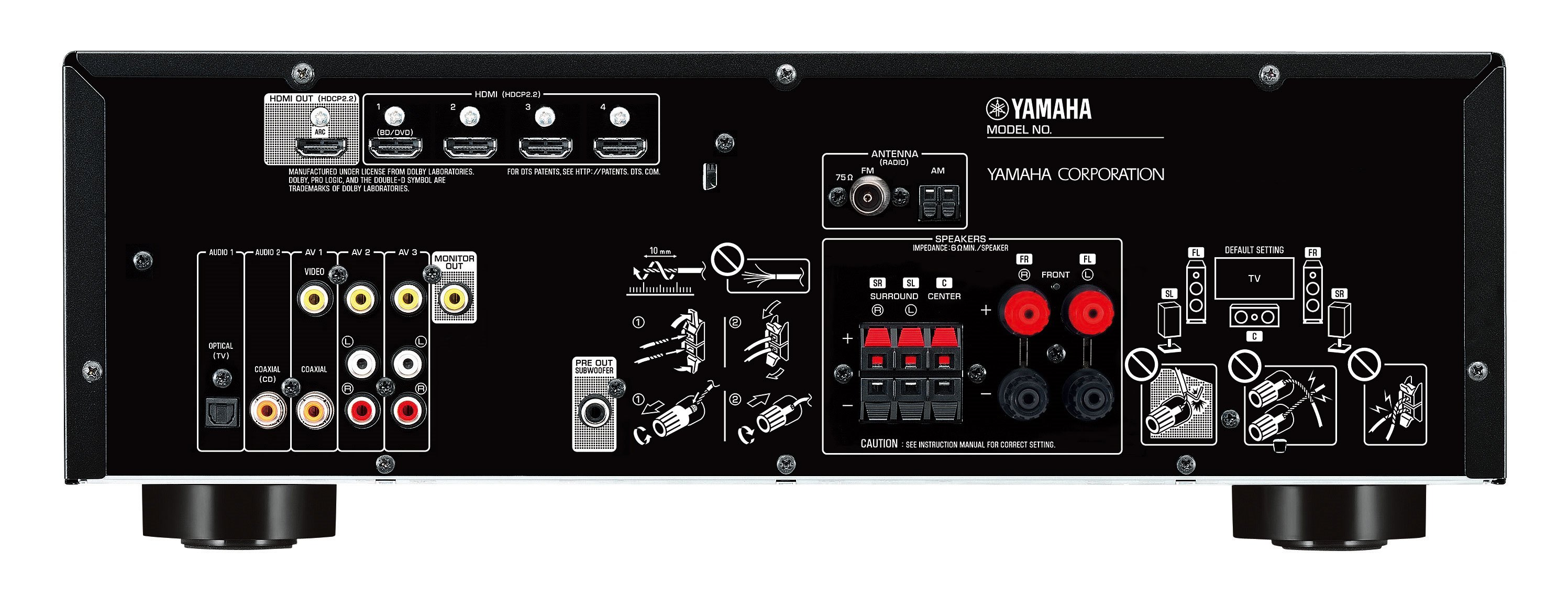yamaha rx v383 svart 5 1 receiver. Black Bedroom Furniture Sets. Home Design Ideas